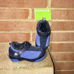 Crocs kids Dawson slip-on size C8 Lined Blue
